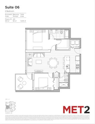 """Photo 26: 3106 6538 NELSON Avenue in Burnaby: Metrotown Condo for sale in """"MET 2"""" (Burnaby South)  : MLS®# R2608701"""