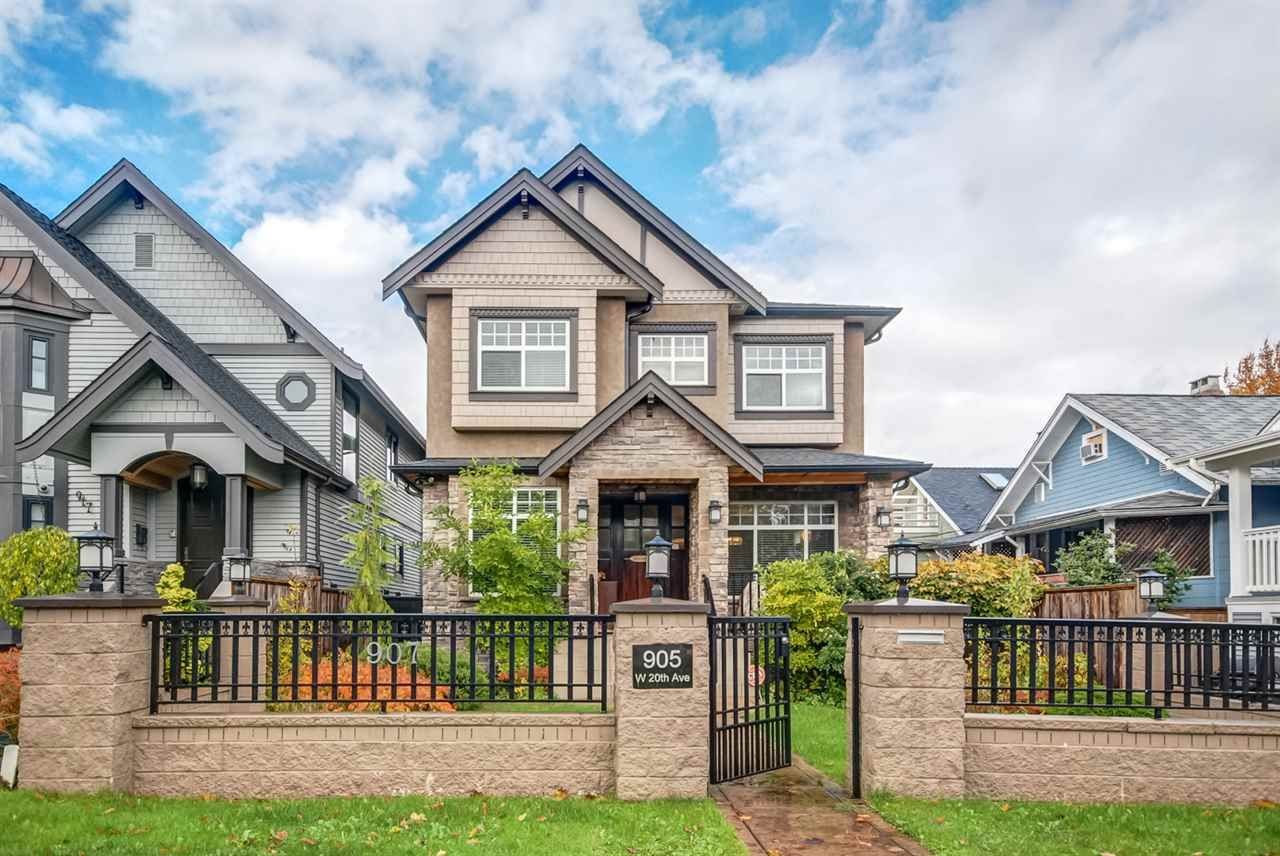 Main Photo: 905 W 20TH Avenue in Vancouver: Cambie House for sale (Vancouver West)  : MLS®# R2129327
