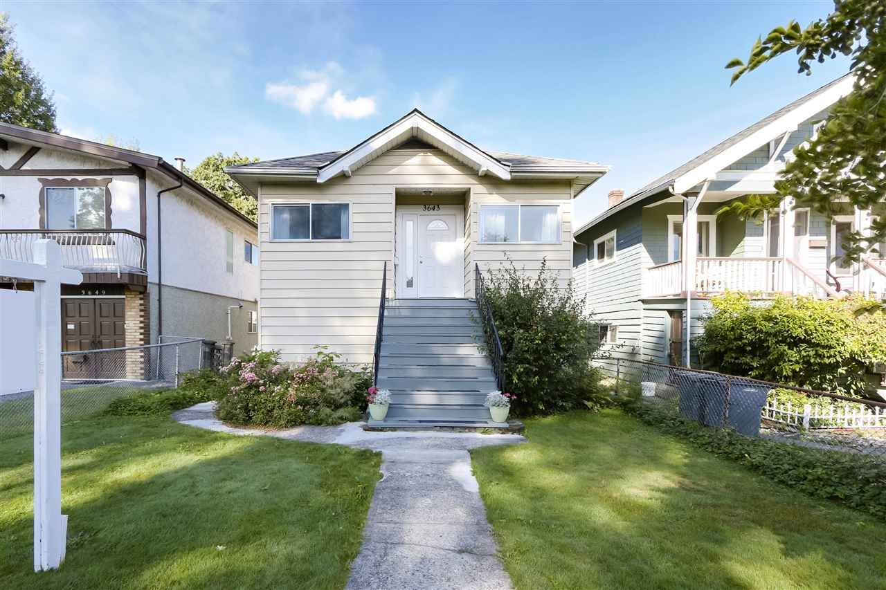 """Main Photo: 3643 PRINCE ALBERT Street in Vancouver: Fraser VE House for sale in """"Fraserhood"""" (Vancouver East)  : MLS®# R2509230"""