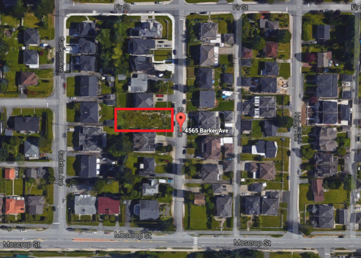 Main Photo: 4565 Barker Avenue in Burnaby: Burnaby Hospital Land for sale (Burnaby South)