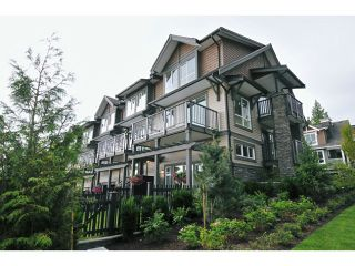 """Photo 1: 120 1480 SOUTHVIEW Street in Coquitlam: Burke Mountain Townhouse for sale in """"CEDAR CREEK"""" : MLS®# V1031696"""