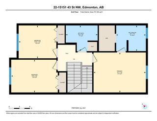 Photo 34: 22 15151 43 Street in Edmonton: Zone 02 House Half Duplex for sale : MLS®# E4239001