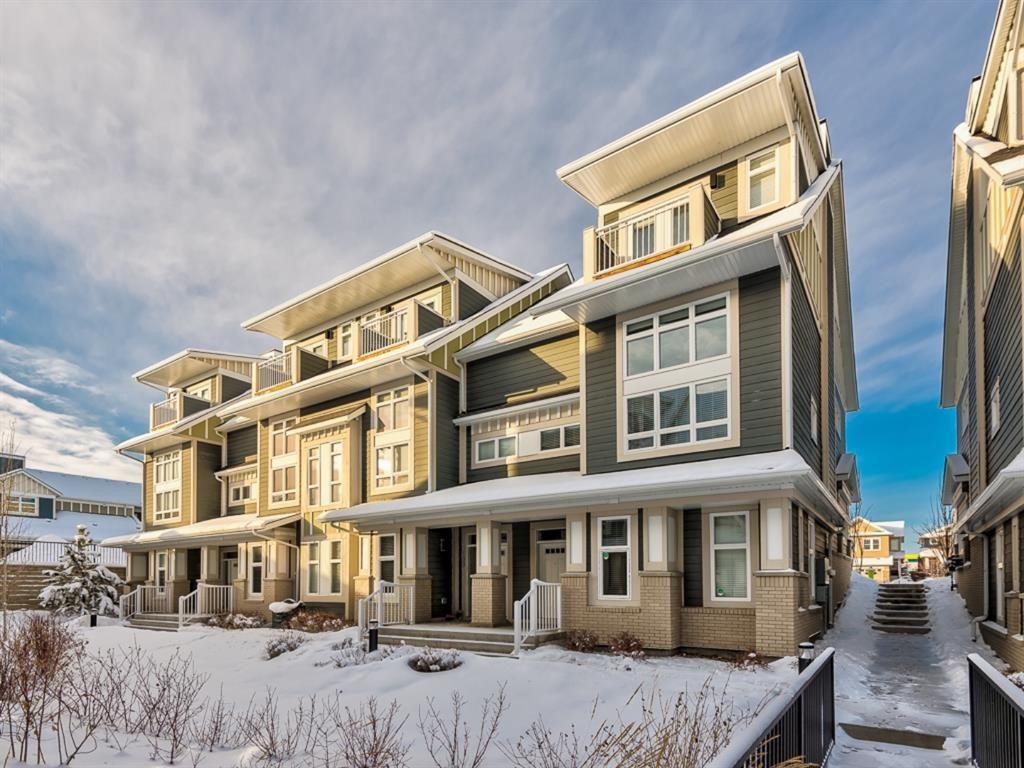 Main Photo: 199 Silverado Plains Park SW in Calgary: Silverado Row/Townhouse for sale : MLS®# A1079562