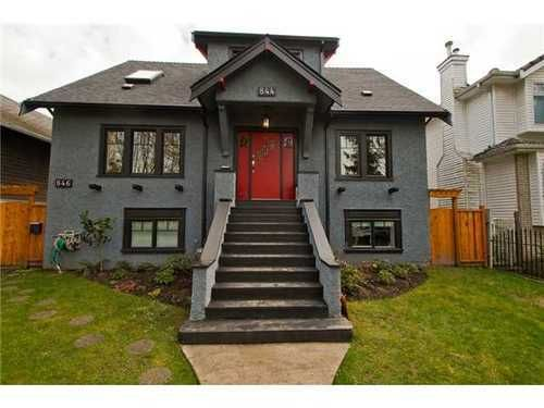 Main Photo: 844 22ND Ave E in Vancouver East: Fraser VE Home for sale ()  : MLS®# V995269