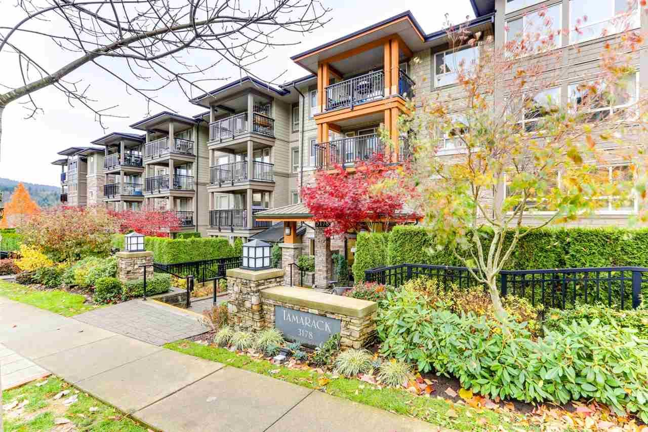 """Main Photo: 414 3178 DAYANEE SPRINGS BL in Coquitlam: Westwood Plateau Condo for sale in """"TAMARACK BY POLYGON"""" : MLS®# R2518198"""