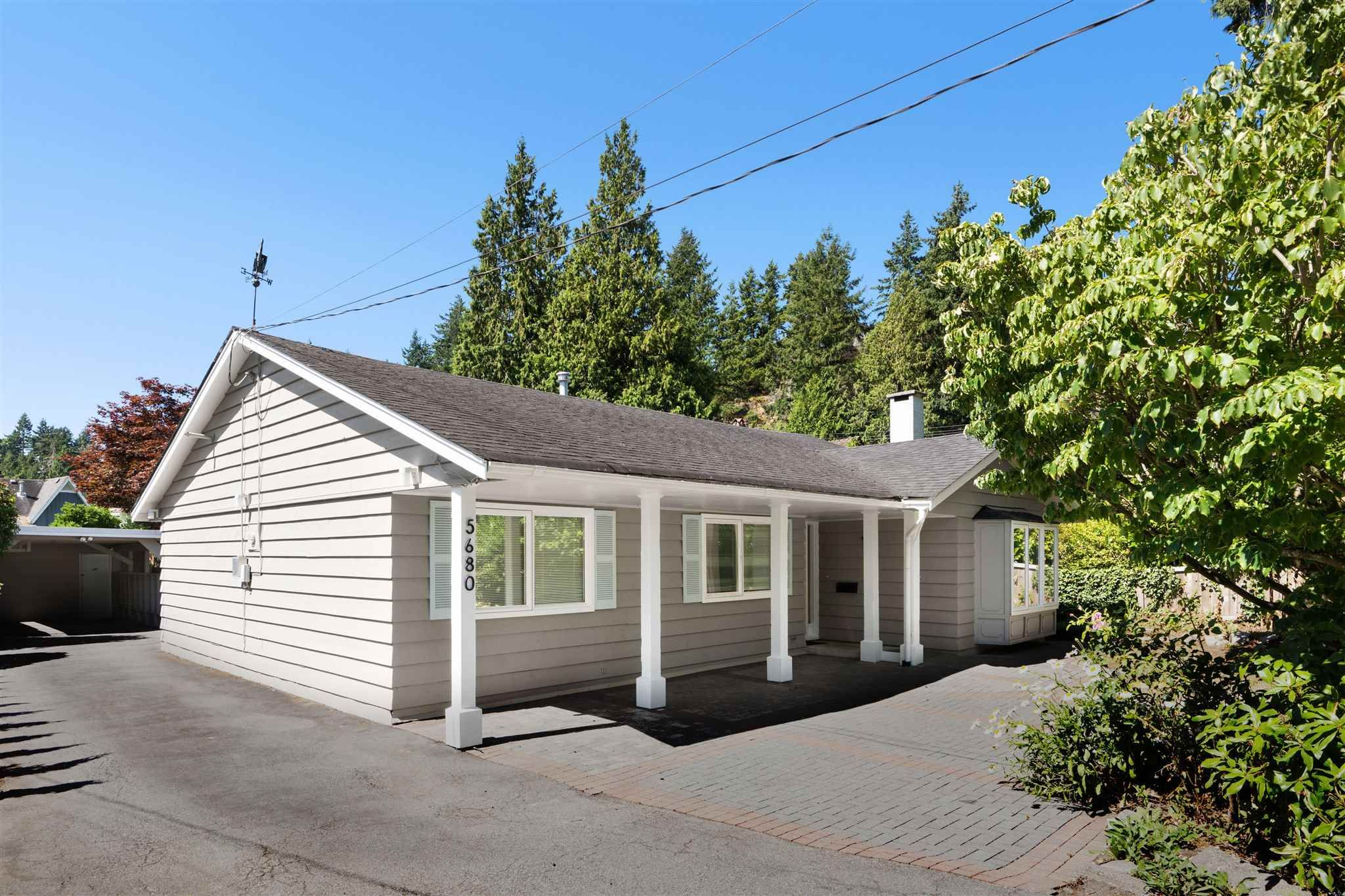 """Main Photo: 5680 MARINE Drive in West Vancouver: Eagle Harbour House for sale in """"EAGLE HARBOUR"""" : MLS®# R2604573"""
