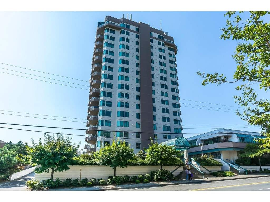 """Main Photo: 1403 32440 SIMON Avenue in Abbotsford: Abbotsford West Condo for sale in """"Trethewey Towers"""" : MLS®# R2371199"""