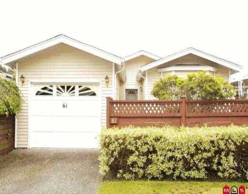 """Main Photo: 61 1400 164TH ST in White Rock: King George Corridor House for sale in """"Gateway Gardens"""" (South Surrey White Rock)  : MLS®# F2610262"""