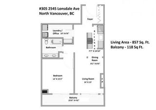 """Photo 17: 305 2545 LONSDALE Avenue in North Vancouver: Upper Lonsdale Condo for sale in """"The Lexington"""" : MLS®# R2241136"""
