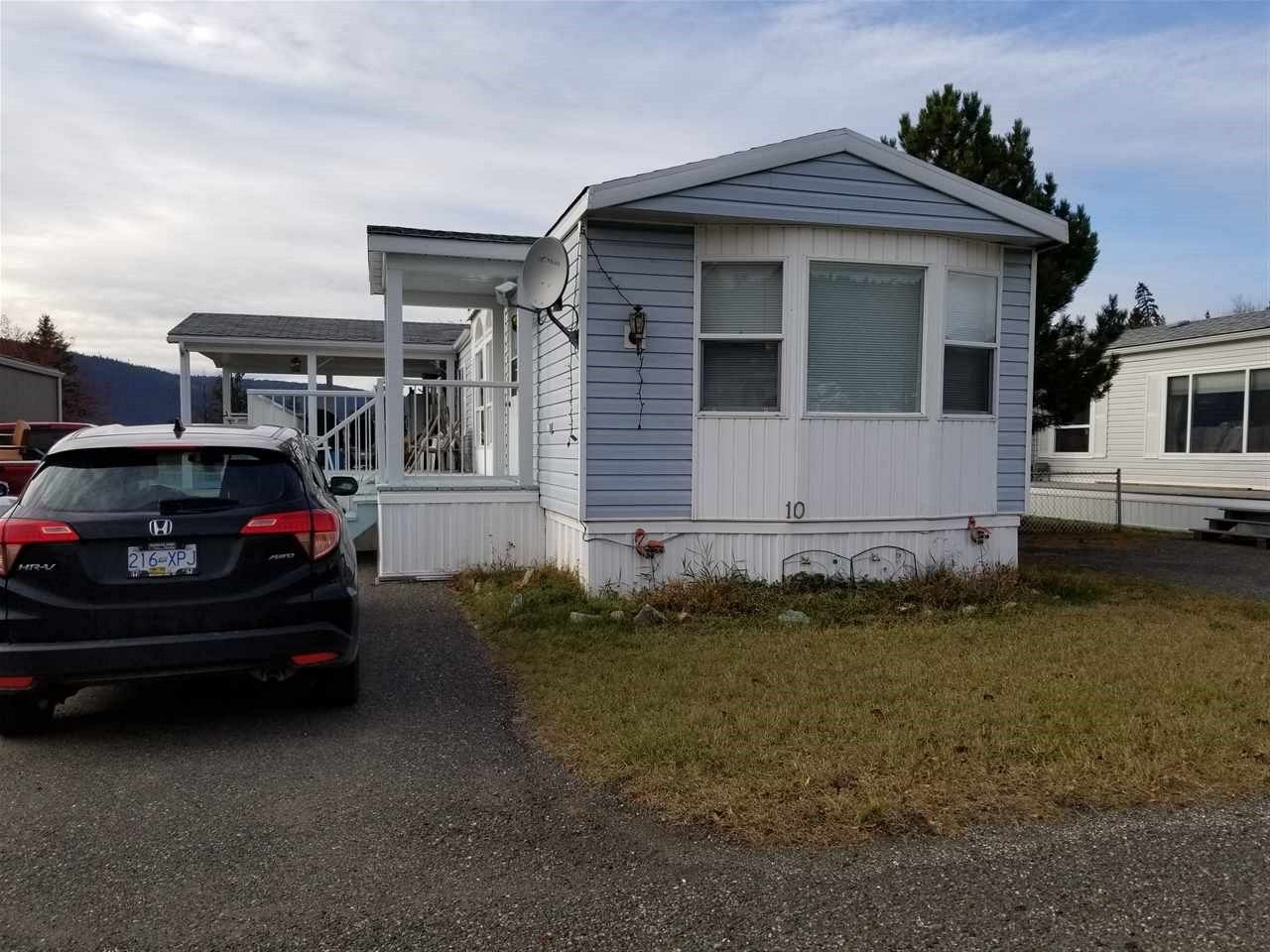 "Main Photo: 10 1400 WESTERN Avenue in Williams Lake: Williams Lake - City Manufactured Home for sale in ""WESTERN ESTATES"" (Williams Lake (Zone 27))  : MLS®# R2416298"