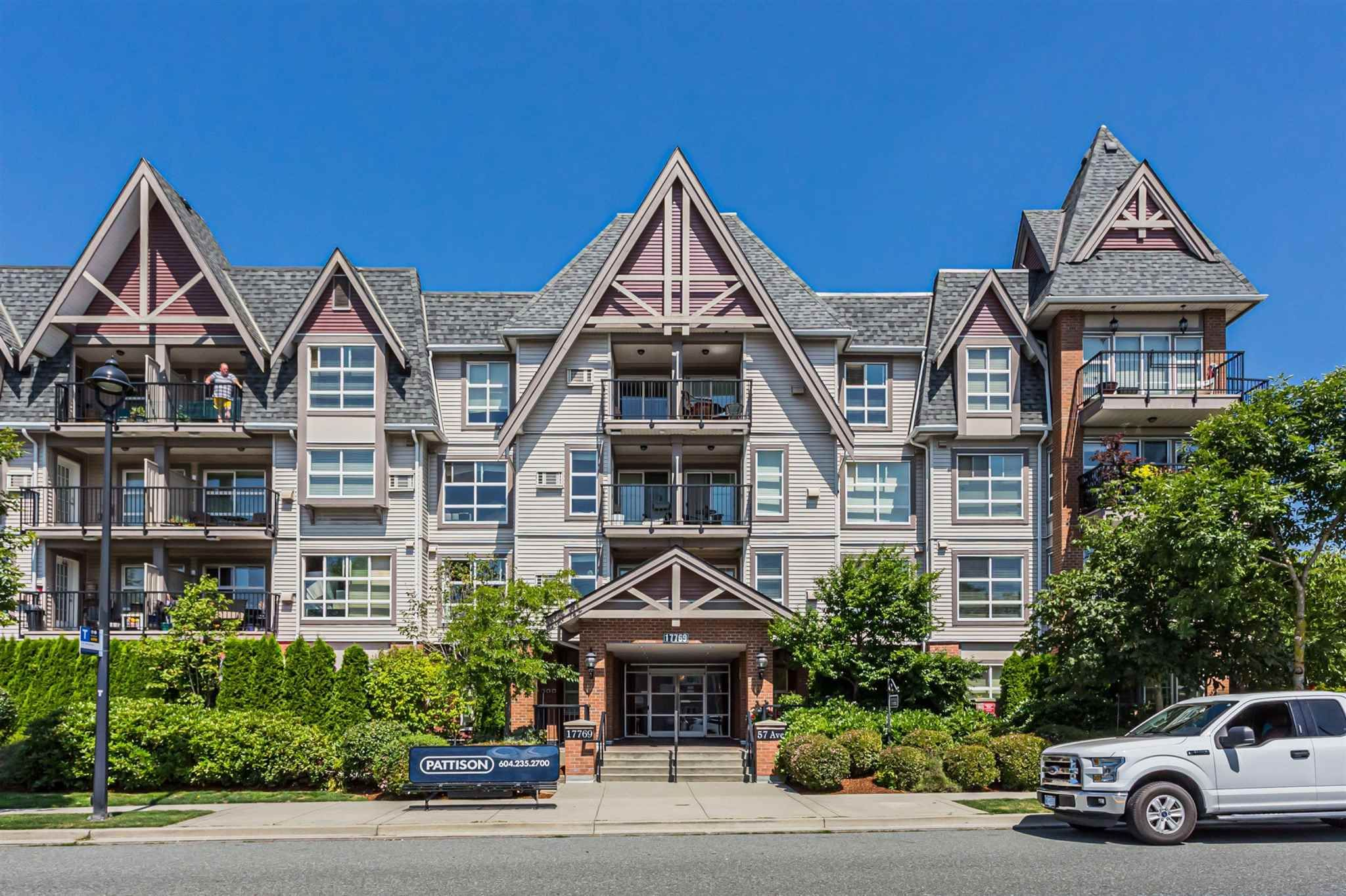 """Main Photo: 320 17769 57 Avenue in Surrey: Cloverdale BC Condo for sale in """"CLOVER DOWNS ESTATES"""" (Cloverdale)  : MLS®# R2604381"""