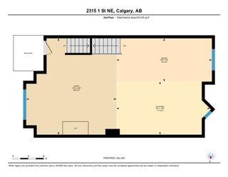 Photo 23: 2315 1 Street NE in Calgary: Tuxedo Park Row/Townhouse for sale : MLS®# A1086504