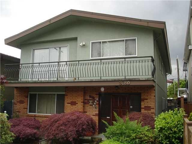 Main Photo: 3180 E 1ST AV in Vancouver: Renfrew VE House for sale (Vancouver East)  : MLS®# V838156