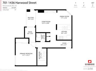 """Photo 22: 701 1436 HARWOOD Street in Vancouver: West End VW Condo for sale in """"HARWOOD HOUSE"""" (Vancouver West)  : MLS®# R2606000"""