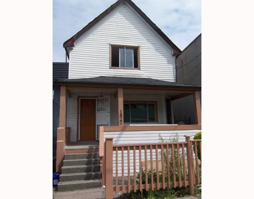 Main Photo: 1827 PANDORA Street in Vancouver: Hastings House for sale (Vancouver East)  : MLS®# V771015