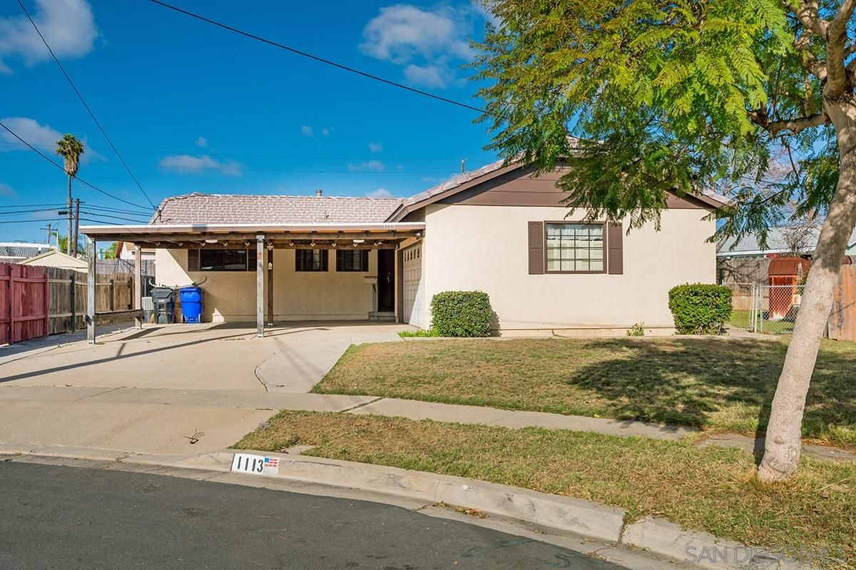 Main Photo: SAN DIEGO House for sale : 3 bedrooms : 1113 Elrose Ct