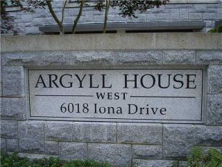 """Photo 10: 602 6018 IONA Drive in Vancouver: University VW Condo for sale in """"ARGYLL HOUSE WEST"""" (Vancouver West)  : MLS®# V859205"""