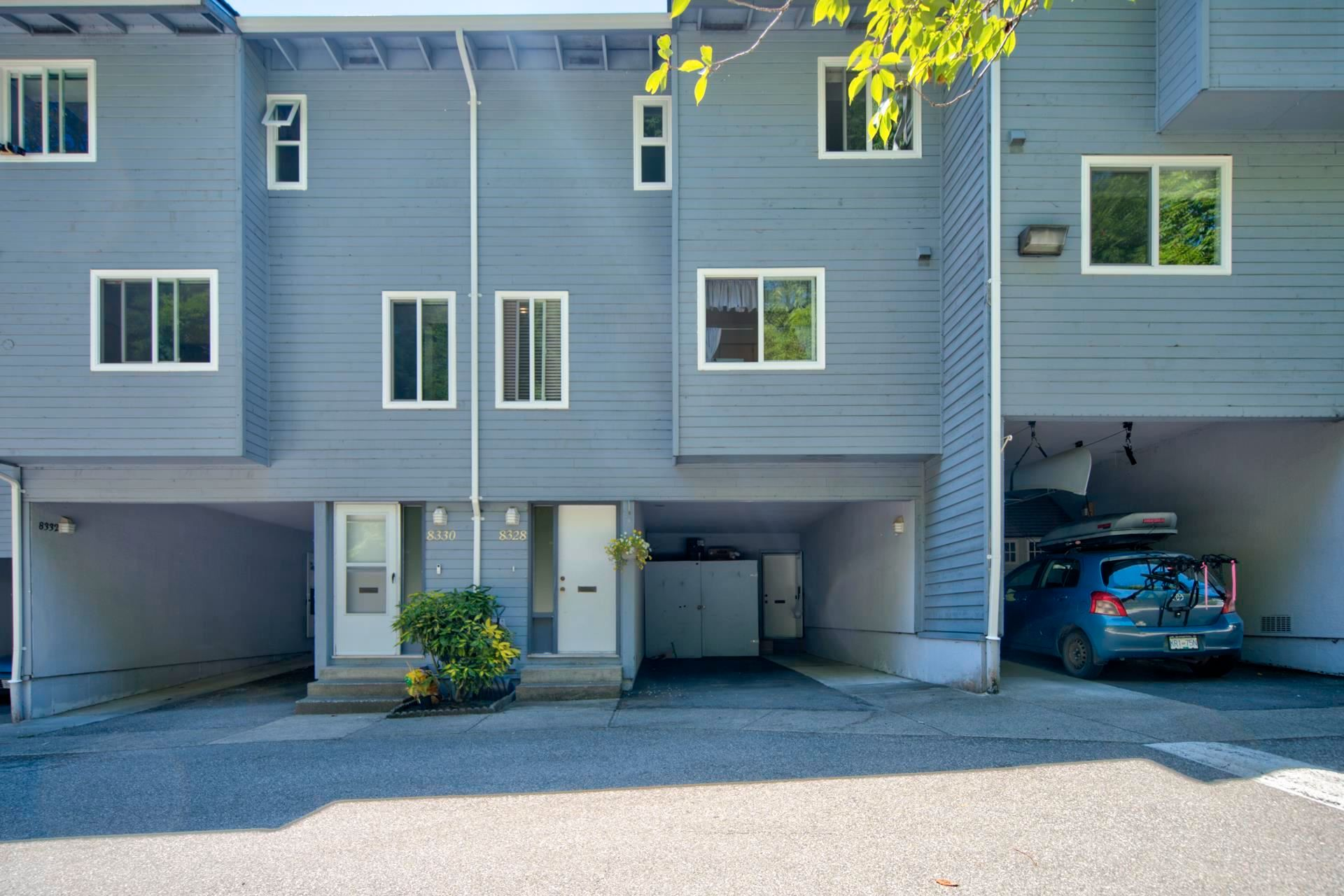 Main Photo: 8328 ASPENWOOD Place in Burnaby: Forest Hills BN Townhouse for sale (Burnaby North)  : MLS®# R2596782