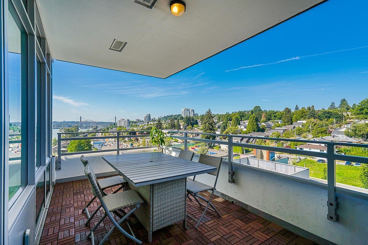 Main Photo: 801 200 NELSON'S Crescent in New Westminster: Sapperton Condo for sale : MLS®# R2606193