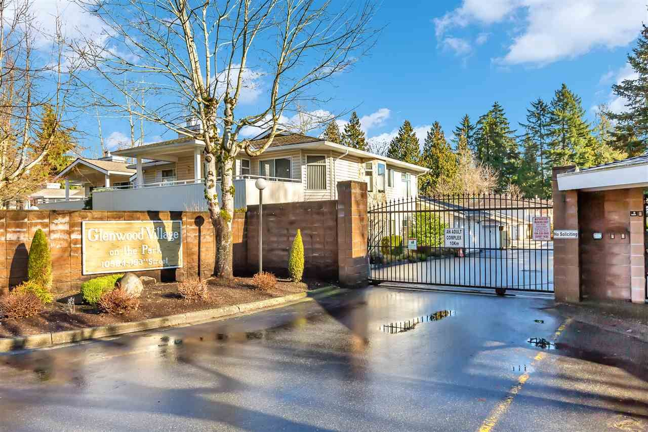 "Main Photo: 103 10584 153 Street in Surrey: Guildford Townhouse for sale in ""GREENWOOD VILLAGE ON THE PARK"" (North Surrey)  : MLS®# R2537189"