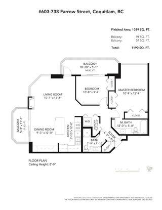 Photo 26: 603 738 FARROW STREET in Coquitlam: Coquitlam West Condo for sale : MLS®# R2532071