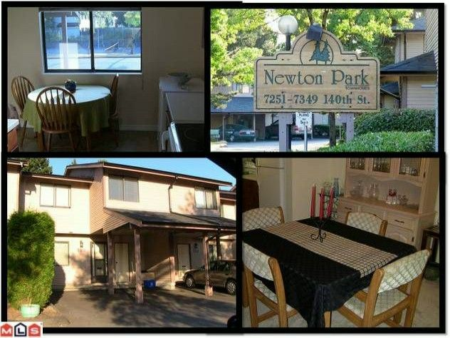 """Main Photo: 133 7325 140TH Street in Surrey: East Newton Townhouse for sale in """"NEWTON PARK"""" : MLS®# F1118574"""