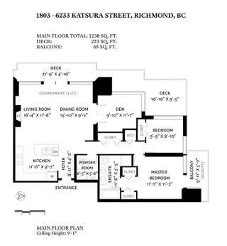 Photo 2: 1803 6233 KATSURA Street in Richmond: McLennan North Condo for sale : MLS®# R2489954