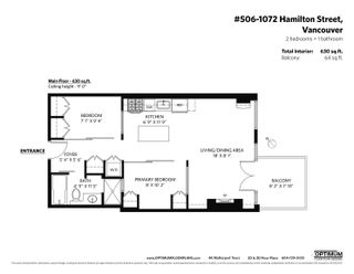 """Photo 28: 506 1072 HAMILTON Street in Vancouver: Yaletown Condo for sale in """"CRANDALL"""" (Vancouver West)  : MLS®# R2619002"""