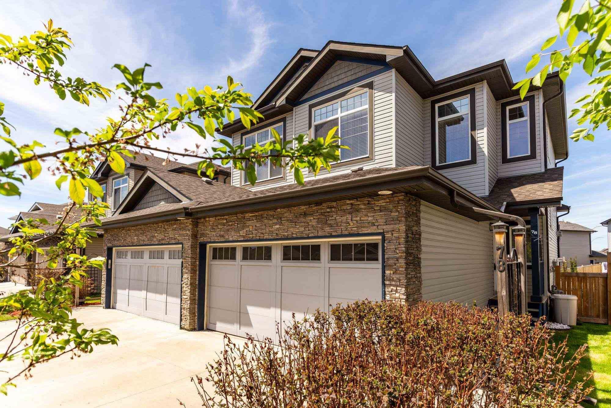 Main Photo: 78 AUSTIN Court: Spruce Grove House Half Duplex for sale : MLS®# E4247987