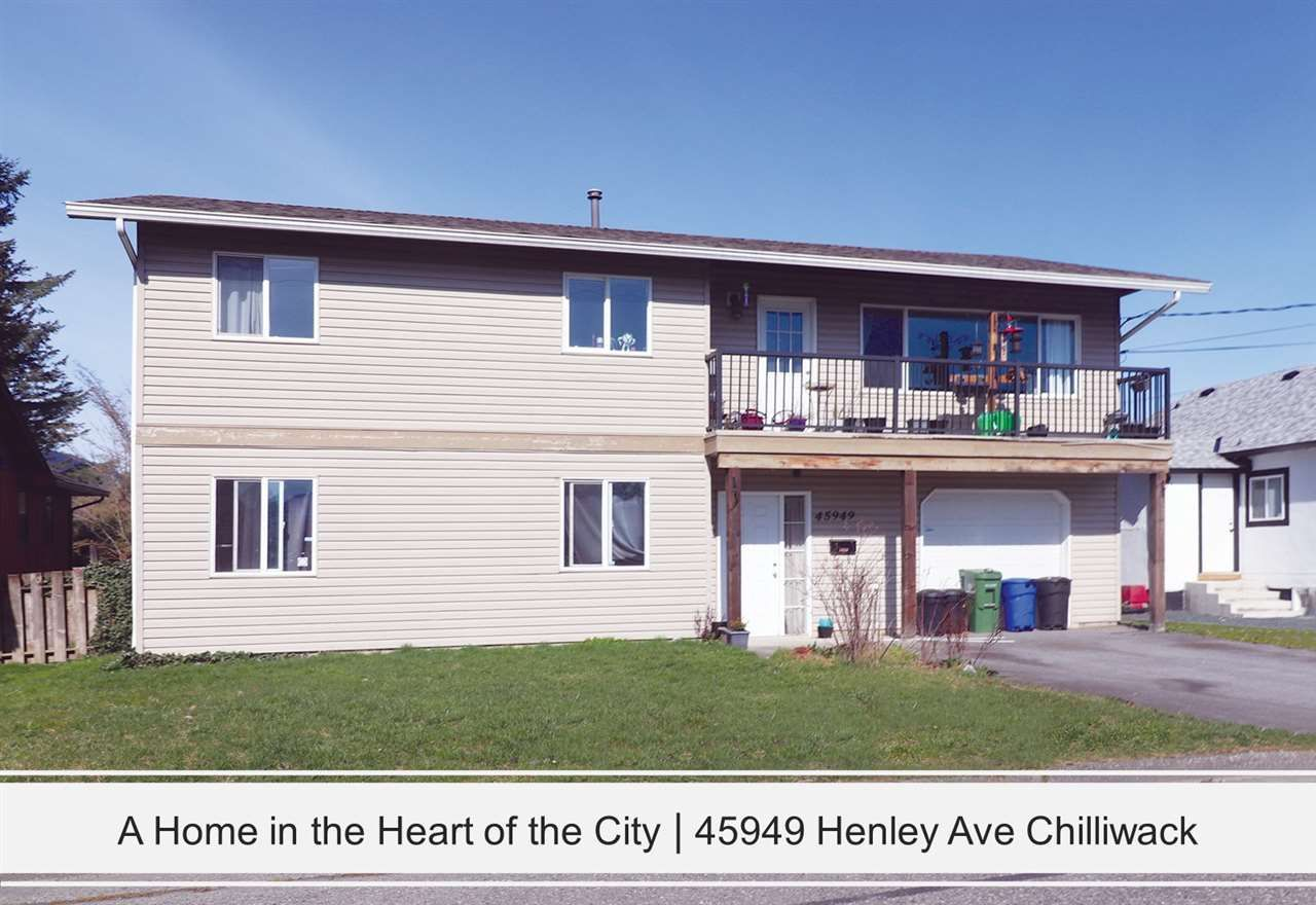 Main Photo: 45949 HENLEY Avenue in Chilliwack: Chilliwack N Yale-Well House for sale : MLS®# R2555397