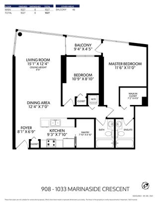 """Photo 26: 908 1033 MARINASIDE Crescent in Vancouver: Yaletown Condo for sale in """"QUAYWEST"""" (Vancouver West)  : MLS®# R2615852"""