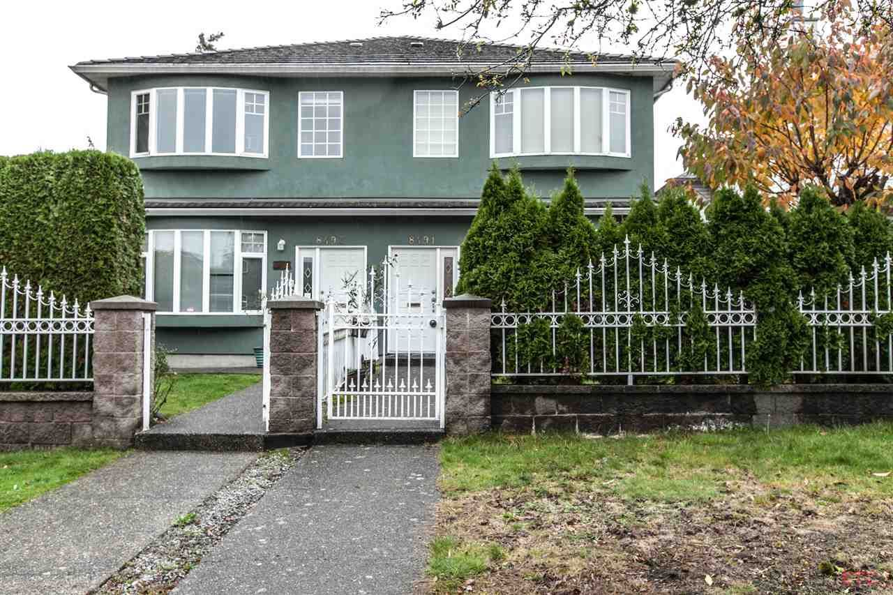 Main Photo: 8491 SHAUGHNESSY Street in Vancouver: Marpole 1/2 Duplex for sale (Vancouver West)  : MLS®# R2120215