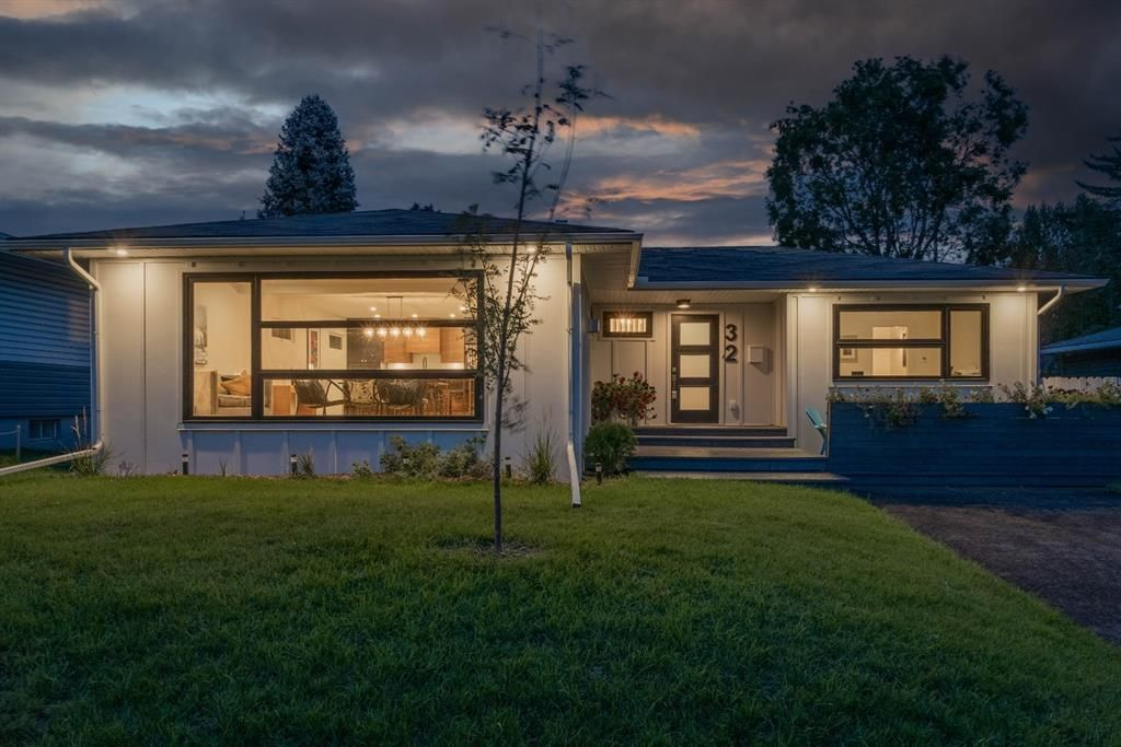 Modern curb appeal with new triple garage.