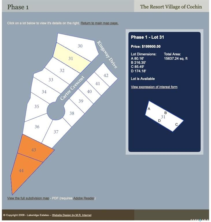 FEATURED LISTING: Lot 31 Carter Crescent Cochin