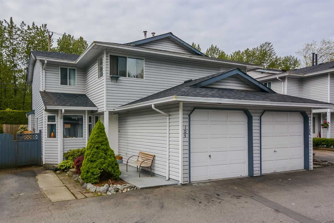 "Main Photo: 105 11255 HARRISON Street in Maple Ridge: East Central Townhouse for sale in ""RIVER HEIGHTS"" : MLS®# R2167830"