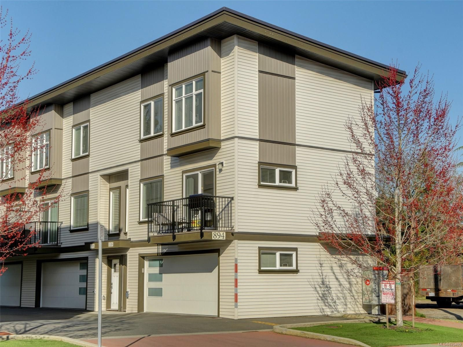 Main Photo: 108 894 Hockley Ave in : La Jacklin Row/Townhouse for sale (Langford)  : MLS®# 870499