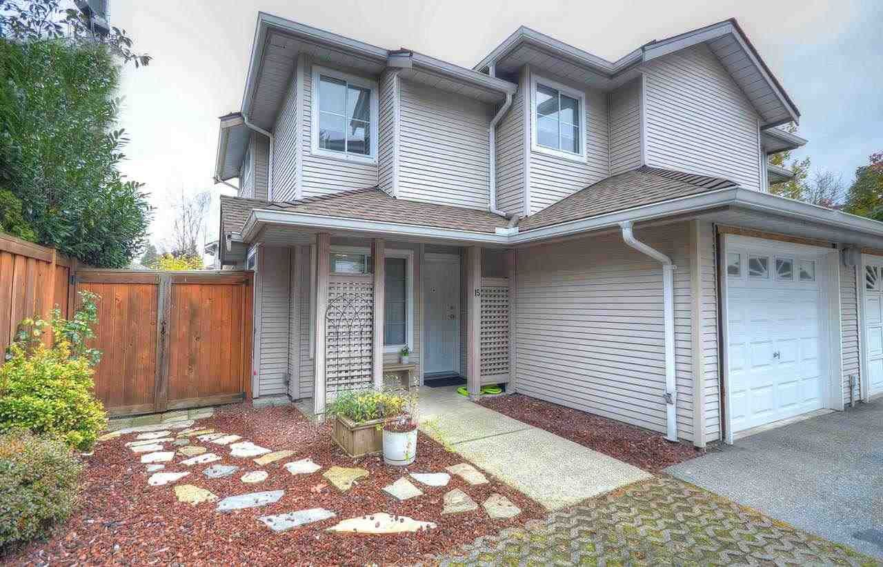 Main Photo: 15 12188 HARRIS Road in Pitt Meadows: Central Meadows Townhouse for sale : MLS®# R2419429