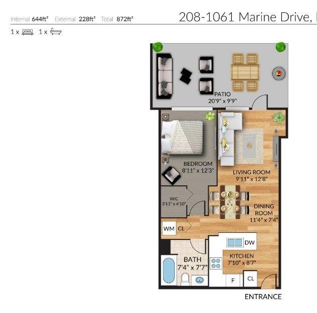 Photo 15: Photos: 208 1061 MARINE DRIVE in North Vancouver: Norgate Condo for sale : MLS®# R2531324