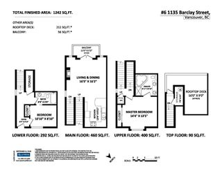 Photo 15: 6 1135 BARCLAY STREET in Vancouver: West End VW Townhouse for sale (Vancouver West)  : MLS®# R2148269