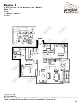 """Photo 4: 2510 668 CITADEL PARADE in Vancouver: Downtown VW Condo for sale in """"SPECTRUM 2"""" (Vancouver West)  : MLS®# R2191828"""