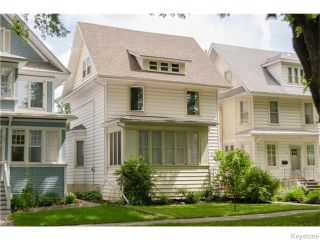 Photo 1: 93 Arlington Street in Winnipeg: West End / Wolseley Residential for sale (West Winnipeg)  : MLS®# 1617427