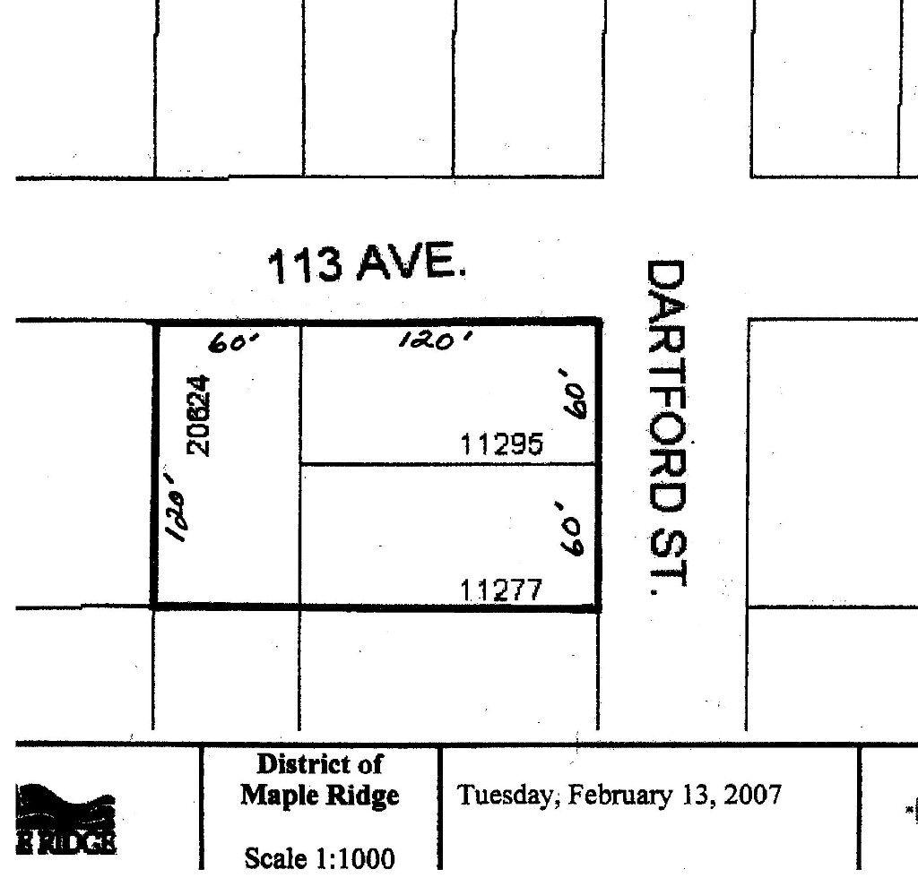 Main Photo: 11277 & 11295 Dartford Street in Maple Ridge: Southwest Maple Ridge Land for sale