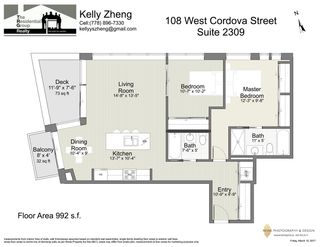 """Photo 19: 2309 108 W CORDOVA Street in Vancouver: Downtown VW Condo for sale in """"WOODWARDS W32"""" (Vancouver West)  : MLS®# R2146313"""