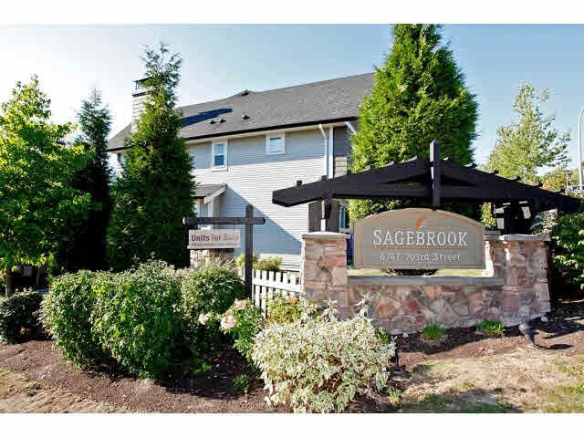 """Main Photo: 23 6747 203RD Street in Langley: Willoughby Heights Townhouse for sale in """"SAGEBROOK"""" : MLS®# F1421612"""