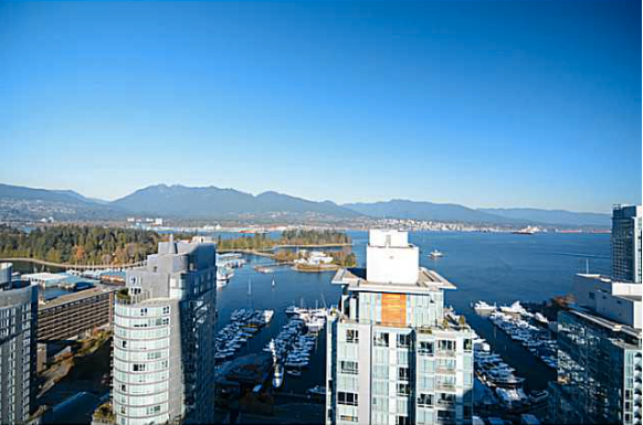 Main Photo: 2702 1499 W Pender Street in Vancouver: Coal Harbour Condo for sale (Vancouver West)  : MLS®# V1094155
