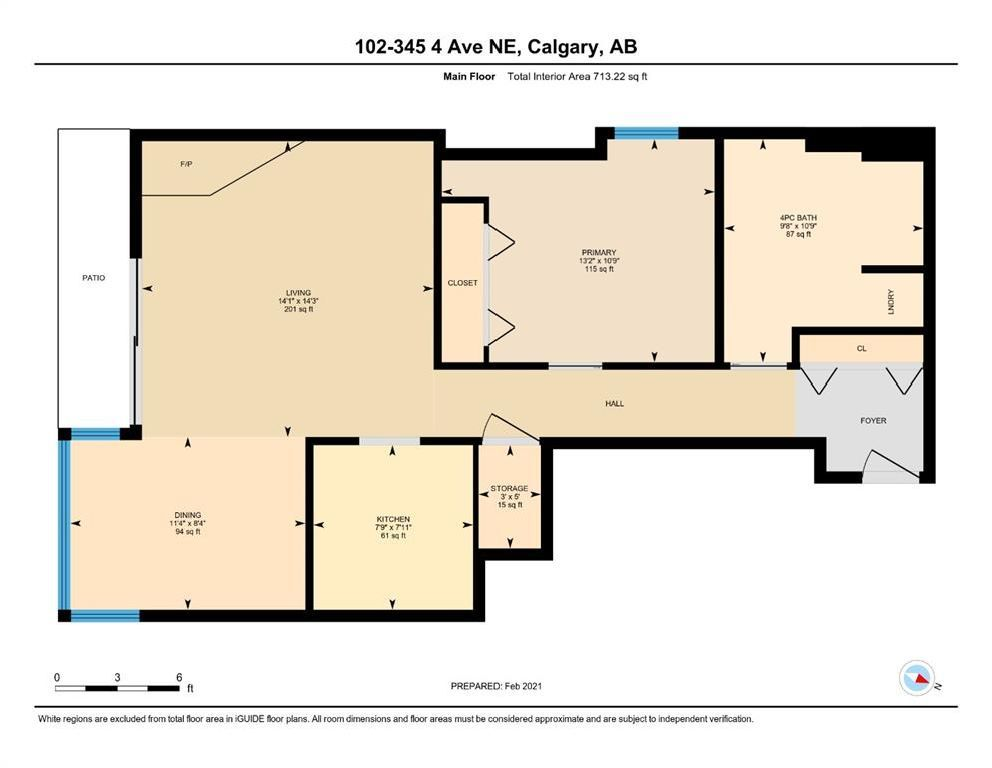 Photo 19: Photos: 102 345 4 Avenue NE in Calgary: Crescent Heights Apartment for sale : MLS®# A1065227