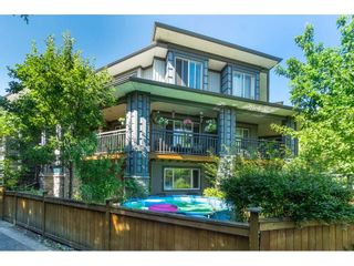 """Photo 1: 185 18701 66 Avenue in Surrey: Cloverdale BC Townhouse for sale in """"ENCORE at HILLCREST"""" (Cloverdale)  : MLS®# R2495999"""