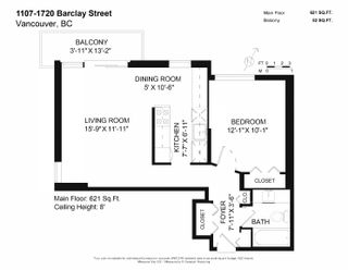 Photo 25: 1107 1720 BARCLAY STREET in Vancouver: West End VW Condo for sale (Vancouver West)  : MLS®# R2617720