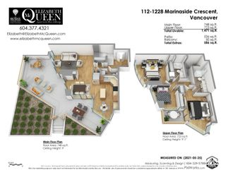 """Photo 4: TH112 1288 MARINASIDE Crescent in Vancouver: Yaletown Townhouse for sale in """"Crestmark 1"""" (Vancouver West)  : MLS®# R2587064"""