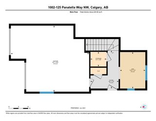 Photo 4: 1002 125 PANATELLA Way NW in Calgary: Panorama Hills Row/Townhouse for sale : MLS®# A1120145